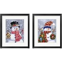 Framed Snowman 2 Piece Framed Art Print Set
