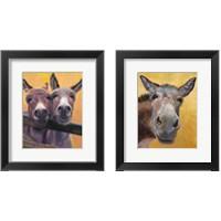 Framed Adorable Donkey 2 Piece Framed Art Print Set