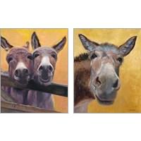 Framed Adorable Donkey 2 Piece Art Print Set