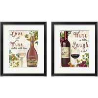 Framed Love and Wine 2 Piece Framed Art Print Set