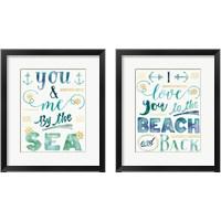 Framed Coastal Words 2 Piece Framed Art Print Set