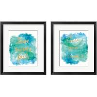 Framed Sea Glass Saying 2 Piece Framed Art Print Set