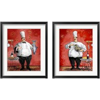 Framed Chef 2 Piece Framed Art Print Set