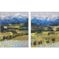 Framed Alpine Impression 2 Piece Art Print Set
