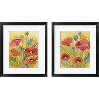 Framed Poppy Collage 2 Piece Framed Art Print Set