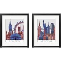 Framed London Landmarks 2 Piece Framed Art Print Set