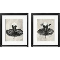 Framed Black Ballet Dress 2 Piece Framed Art Print Set