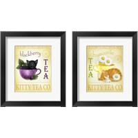 Framed Tea Cat 2 Piece Framed Art Print Set