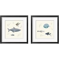 Framed Ocean Life Fish 2 Piece Framed Art Print Set