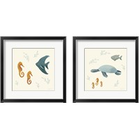 Framed Ocean Life Sea Turtle 2 Piece Framed Art Print Set
