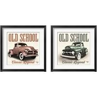 Framed Old School Vintage Trucks 2 Piece Framed Art Print Set