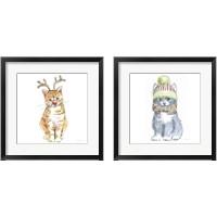 Framed Christmas Kitties 2 Piece Framed Art Print Set