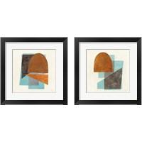 Framed Quintet Turquoise 2 Piece Framed Art Print Set