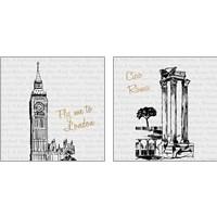 Framed Travel Pack 2 Piece Art Print Set