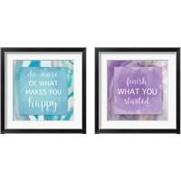 Framed Agate Inspiration 2 Piece Framed Art Print Set