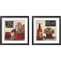 Framed Red Jungle Spa 2 Piece Framed Art Print Set