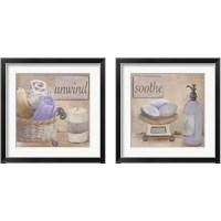 Framed Lavender Bath 2 Piece Framed Art Print Set