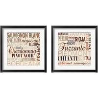 Framed Wine Words 2 Piece Framed Art Print Set