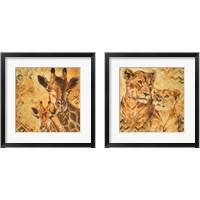 Framed Safari Mother and Son 2 Piece Framed Art Print Set