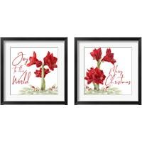 Framed Merry Amaryllis 2 Piece Framed Art Print Set