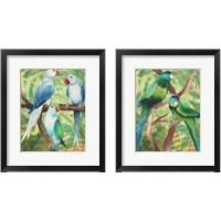 Framed Tropical Birds 2 Piece Framed Art Print Set