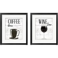 Framed Coffee Hour 2 Piece Framed Art Print Set