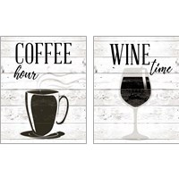 Framed Coffee Hour 2 Piece Art Print Set