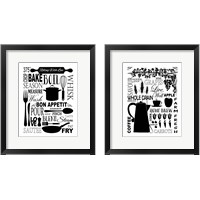 Framed Culinary Love BW 2 Piece Framed Art Print Set