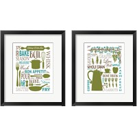 Framed Culinary Love 2 Piece Framed Art Print Set