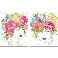 Framed Floral Figures 2 Piece Art Print Set