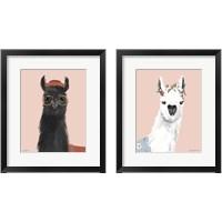 Framed Delightful Alpacas 2 Piece Framed Art Print Set