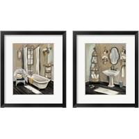 Framed French Bath Black 2 Piece Framed Art Print Set