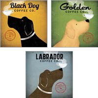 Framed Dog Coffee Co. 3 Piece Art Print Set