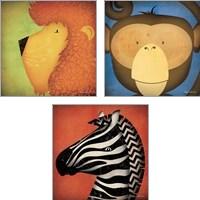 Framed Animal WOW 3 Piece Art Print Set