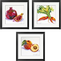 Framed Edibles  3 Piece Framed Art Print Set