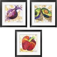Framed Veggie Splash 3 Piece Framed Art Print Set