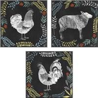 Framed Chalkboard Farmhouse 3 Piece Art Print Set