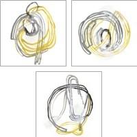Framed String Orbit 3 Piece Art Print Set
