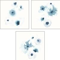 Framed Protea Blue 3 Piece Art Print Set