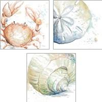 Framed Water Sea Life 3 Piece Art Print Set