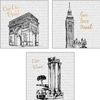 Framed Travel Pack 3 Piece Art Print Set