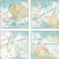 Framed Look to the Sea 4 Piece Art Print Set