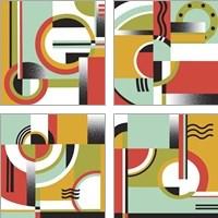 Framed Bauhaus  4 Piece Art Print Set