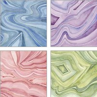 Framed Pastel Agate 4 Piece Art Print Set