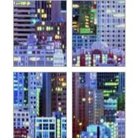 Framed Metropolitain 4 Piece Art Print Set
