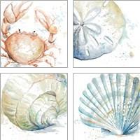 Framed Water Sea Life 4 Piece Art Print Set