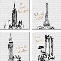 Framed Travel Pack 4 Piece Art Print Set