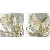 Framed Blooming Gold 2 Piece Art Print Set