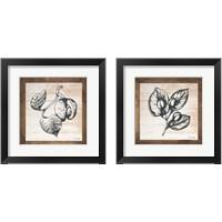 Framed Petals on Planks 2 Piece Framed Art Print Set