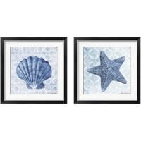 Framed Seashell & Starfish 2 Piece Framed Art Print Set